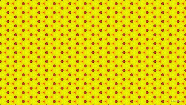 Yellow wallpaper with red pattern
