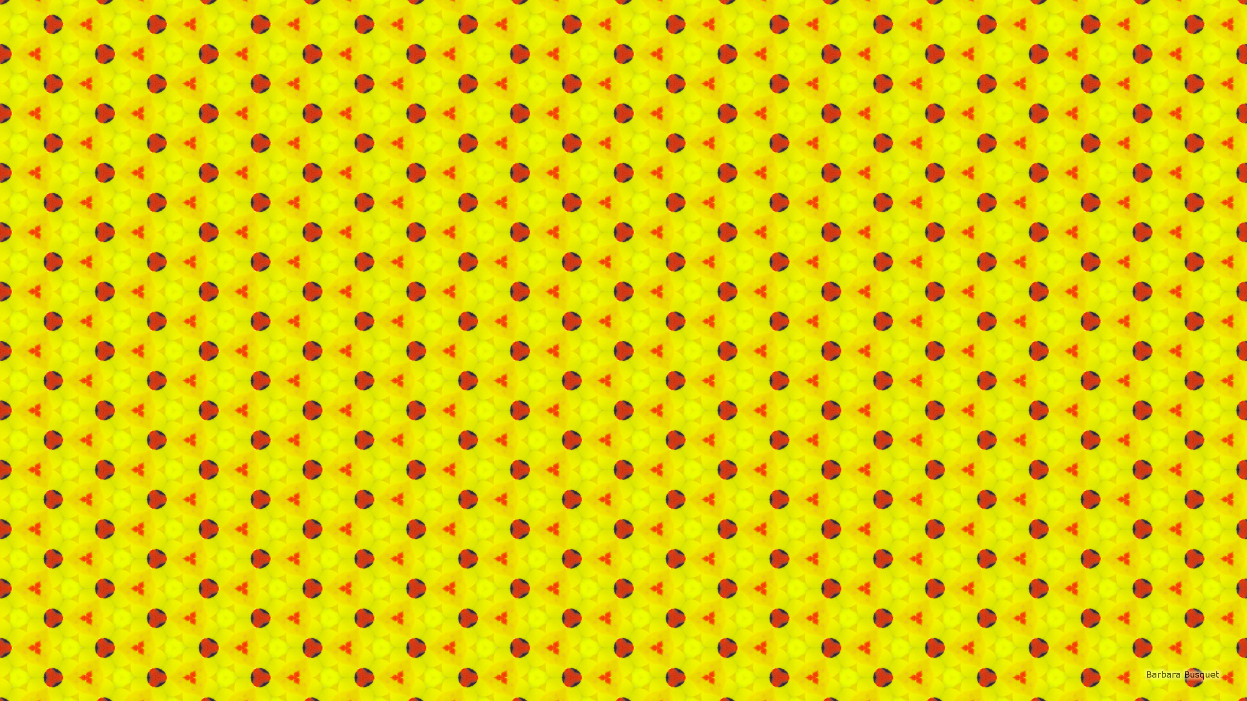 Nice Desktop Wallpaper With A Red And Light Yellow Pattern Triangles Circles