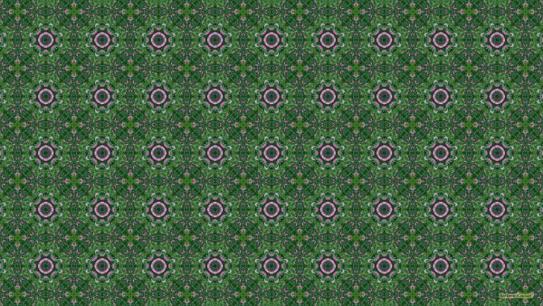 Pattern wallpaper with pink roses and leaves