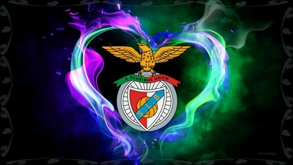 Benfica emblem wallpaper with fire