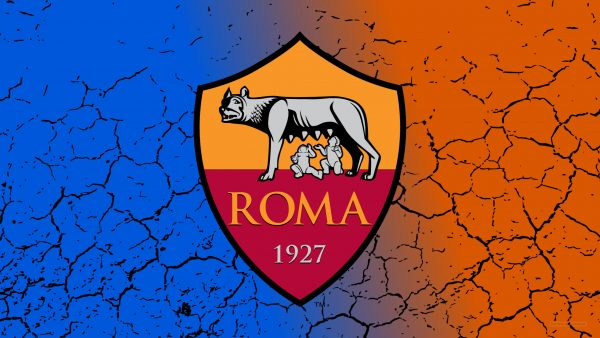 Blue orange AS Roma wallpaper