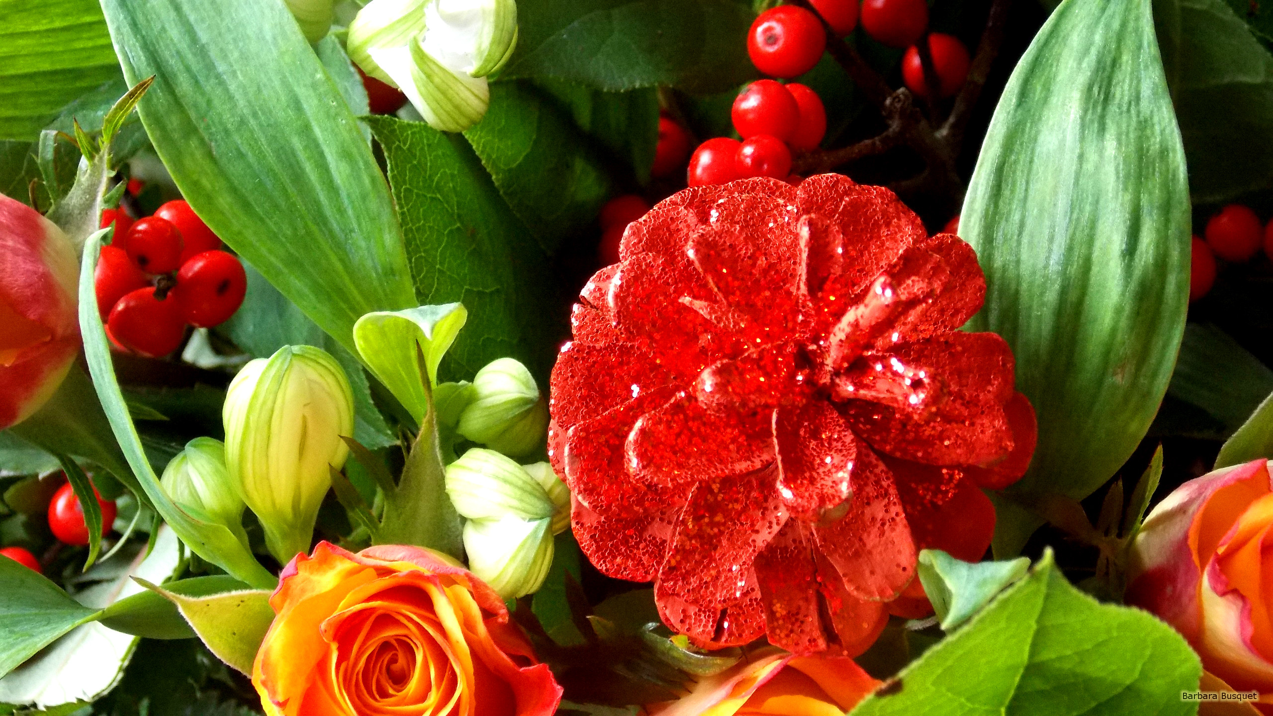 Christmas flower bouquet Barbaras HD Wallpapers