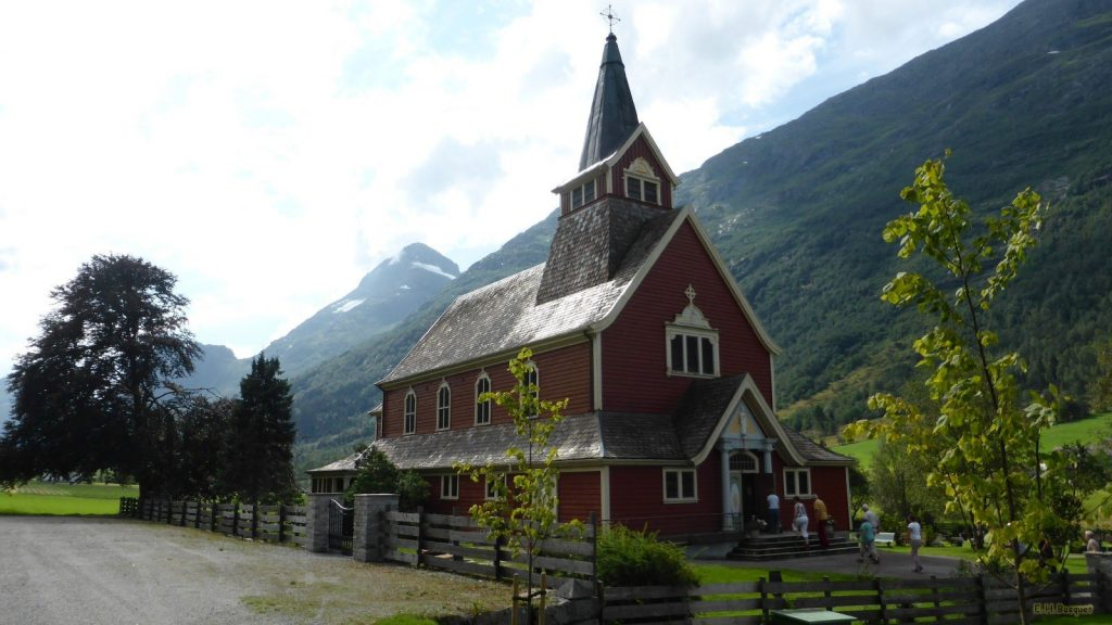 Church in the mountains of Norway