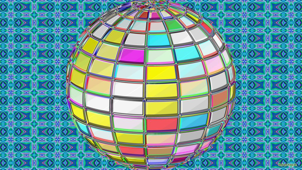 Colorful 3D ball wallpaper