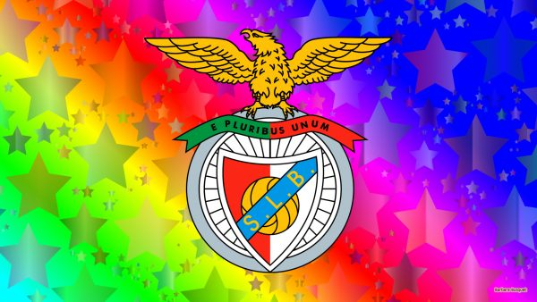 Colorful Benfica SL football club wallpaper with stars