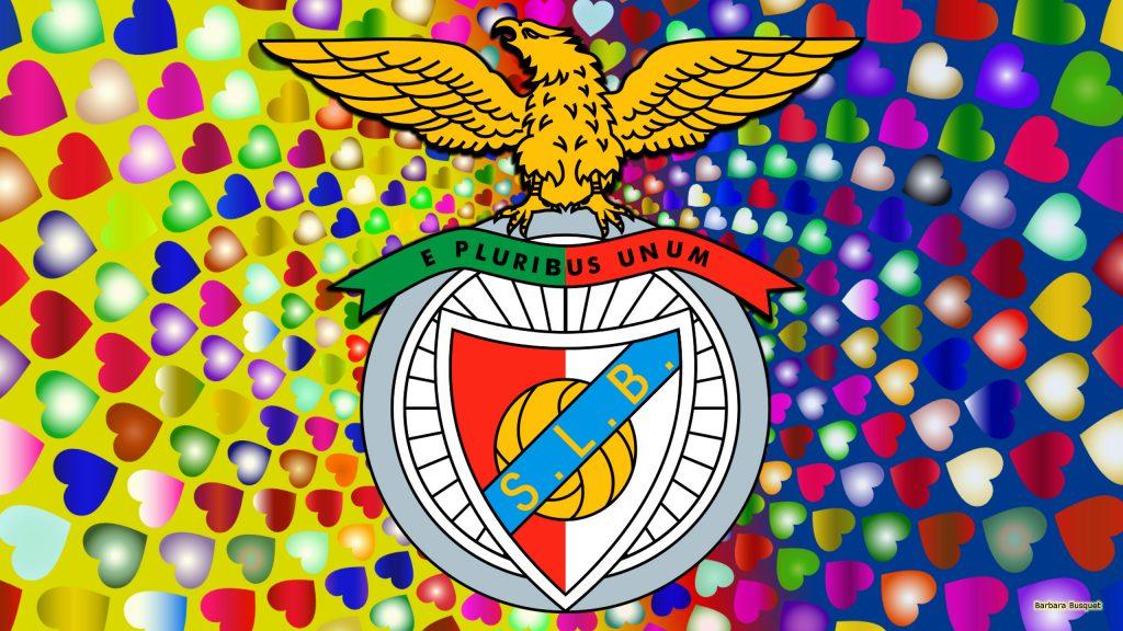 Colorful Benfica logo wallpaper