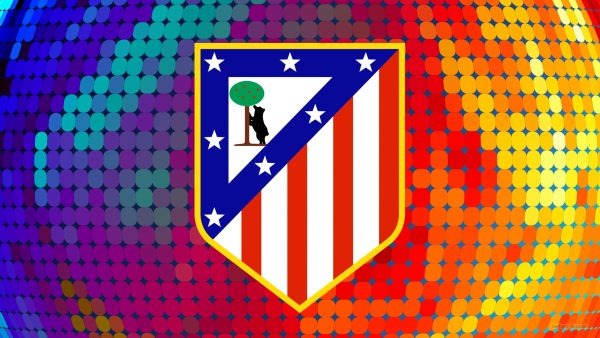 Football wallpaper with Atletico Madrid logo