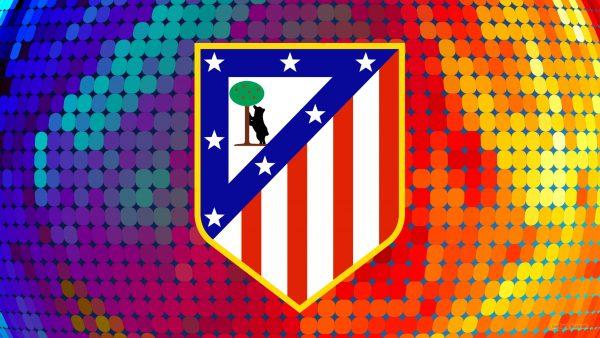 Football wallpaper with Atletico Madrid logo