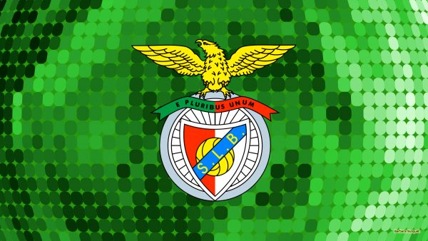 Green Benfica SL football club wallpaper with dots