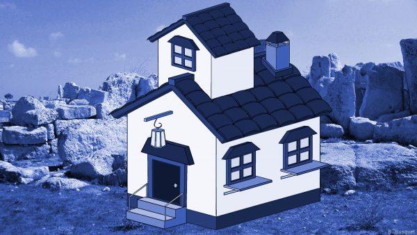 3D house in the desert