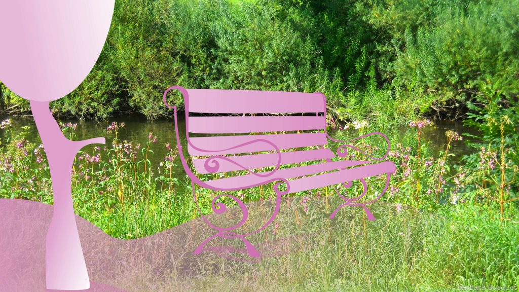 HD wallpaper Iron bench in the park