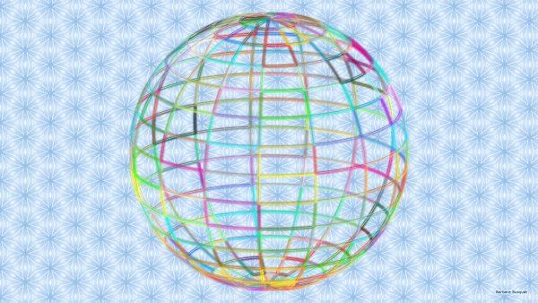 HD wallpaper wire frame 3D ball