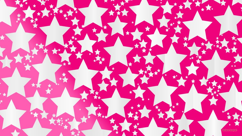 Pink wallpaper white stars