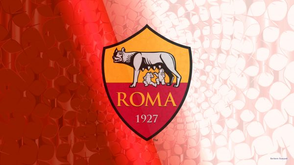Red A.S. Roma football wallpaper with stars