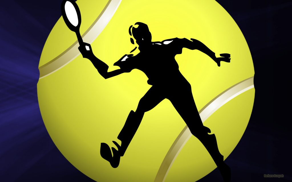 Sports wallpaper with tennis player