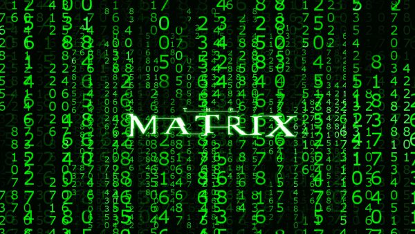 the matrix logo wallpaper