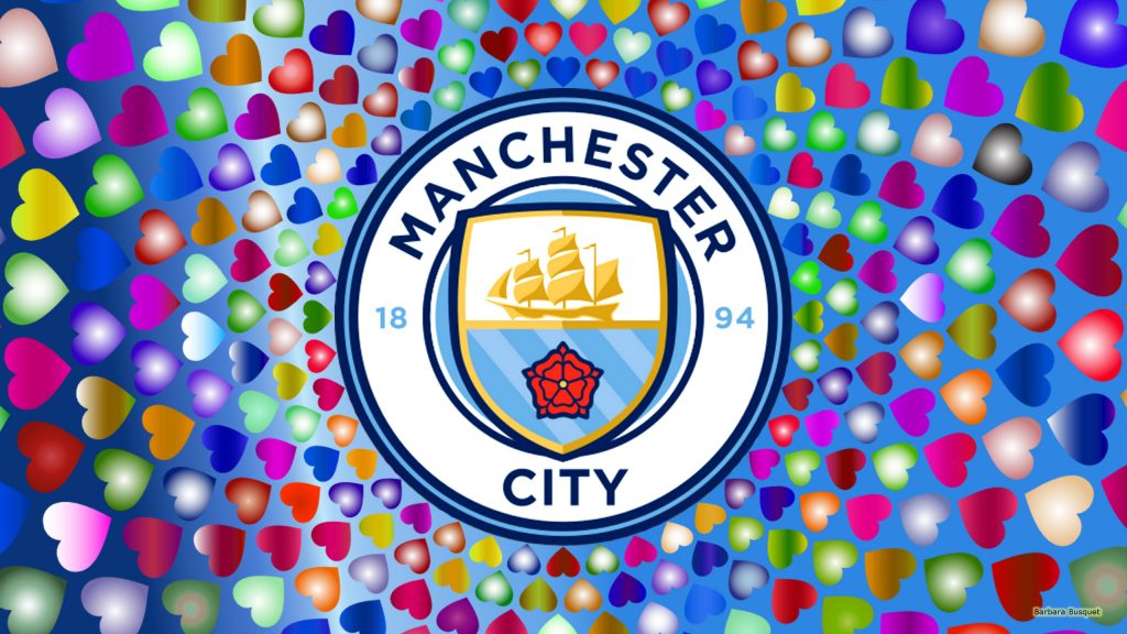 Blue Manchester City wallpaper with hearts