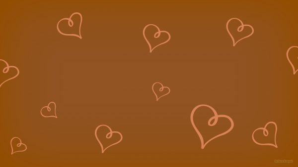 Brown pattern wallpaper with hearts