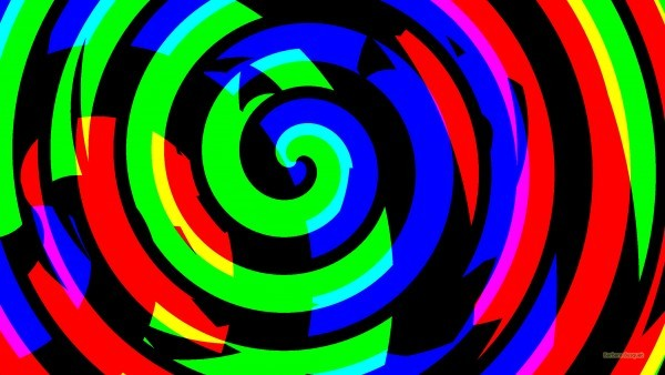 Dark spiral wallpaper