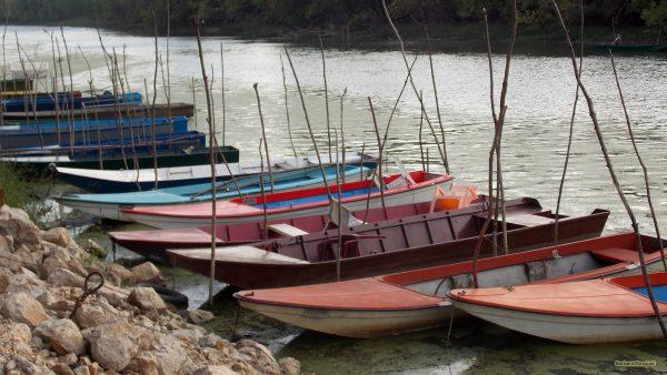 HD wallpaper small boats in river