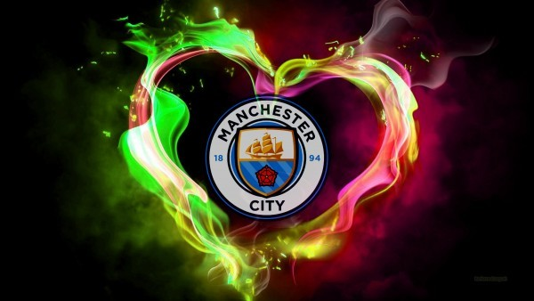 Manchester city heart of flames