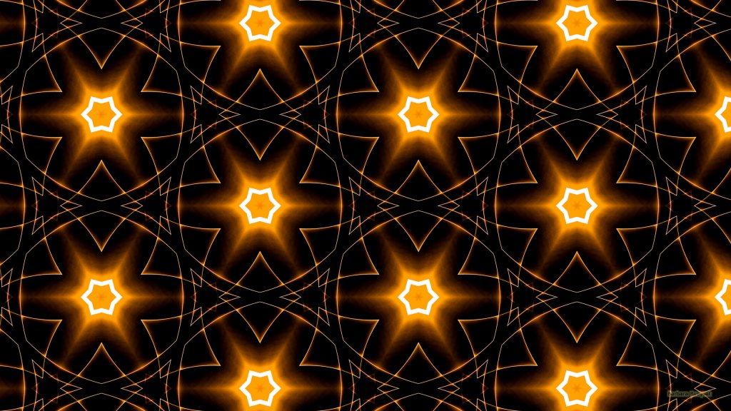 Orange star pattern wallpaper