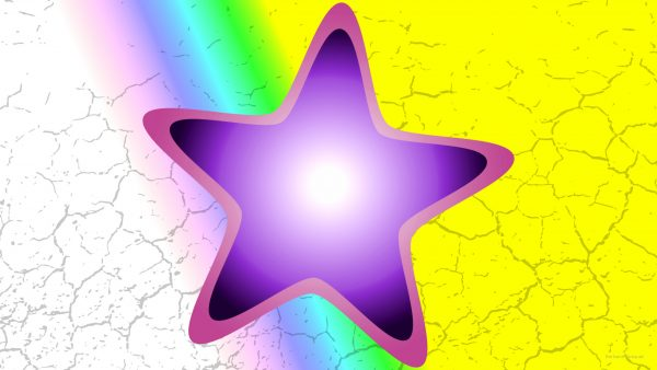 Abstract wallpaper purple star