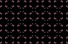 Black wallpaper with pink butterflies