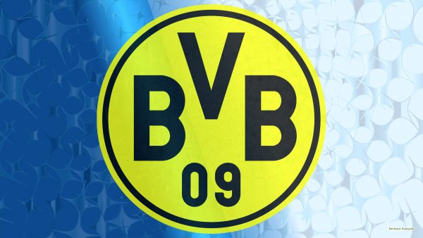 Blue Borussia Dortmund football wallpaper with big logo