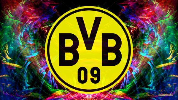 Colorful Borussia Dortmund wallpaper.
