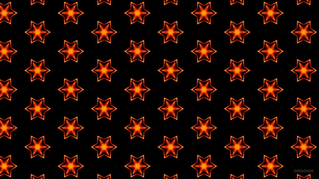Dark pattern wallpaper with stars made of fire