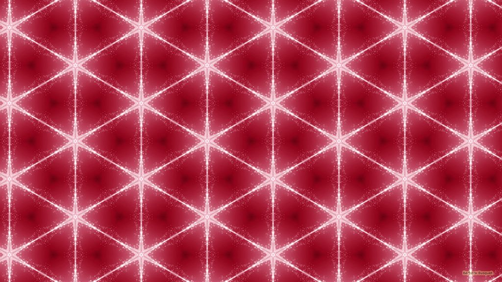 Dark pink wallpaper with white star pattern