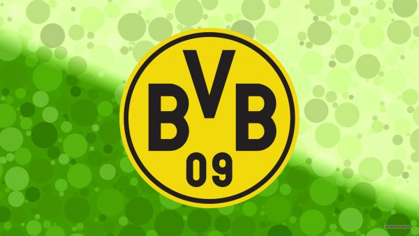 Green Borussia Dortmund wallpaper with circles