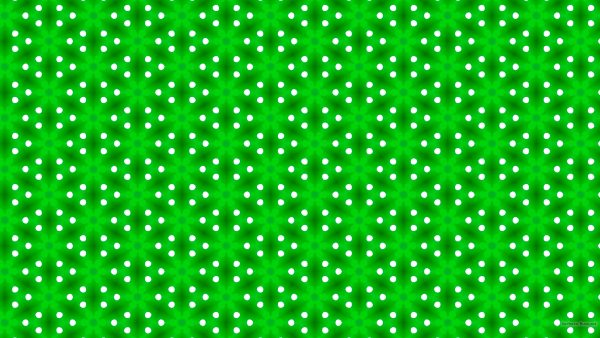 Green pattern wallpaper with triangles and white dots