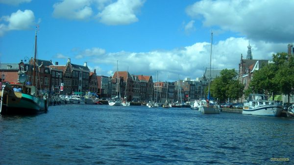 HD wallpaper boats in Canals of Haarlem