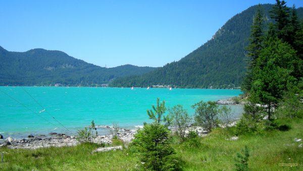 HD wallpaper landscape with blue lake