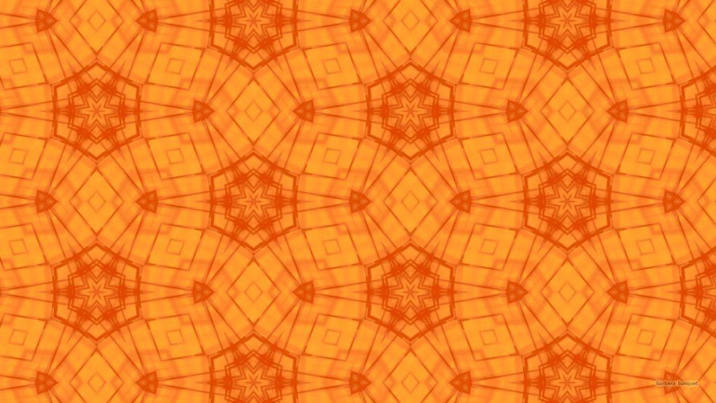 Light and dark orange star pattern wallpaper