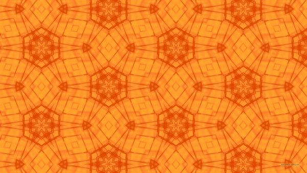 Light and dark orange star pattern wallpaper