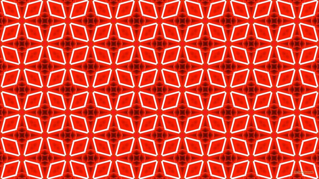 Red white pattern wallpaper