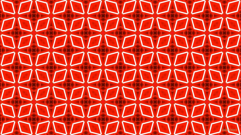 Red white pattern wallpaper