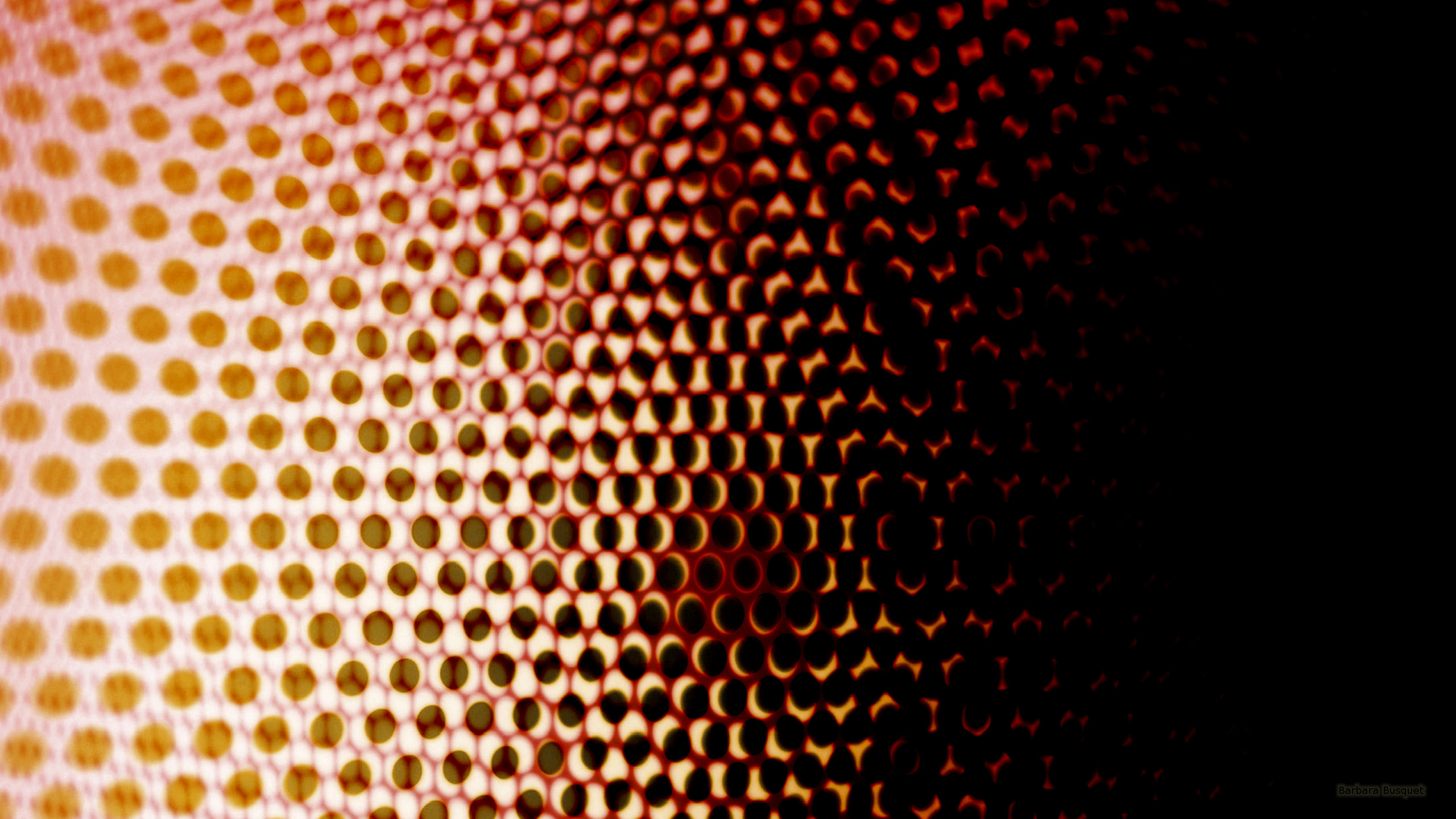 Black Red Yellow Abstract Wallpaper With Dots