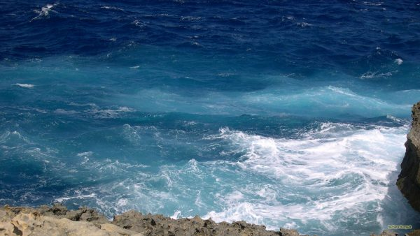 HD wallpaper blue ocean waves