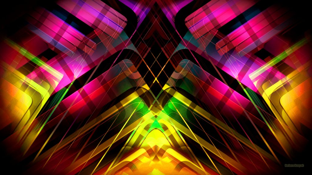 Abstract symmetric colorful wallpaper