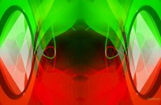 Symmetry wallpaper green red