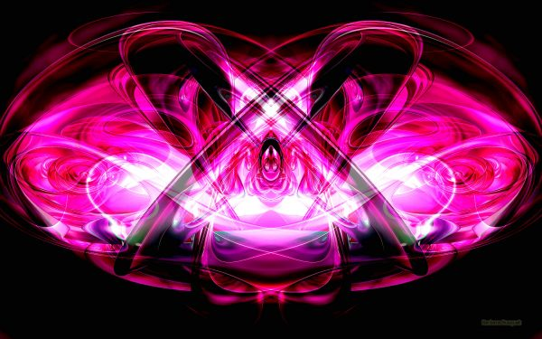 Abstract wallpaper with pink colors on black background
