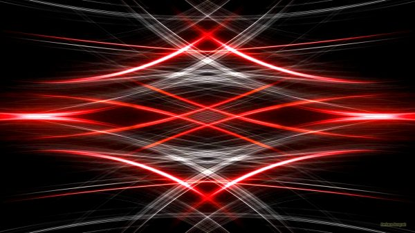BLack abstract wallpaper with red and white lights