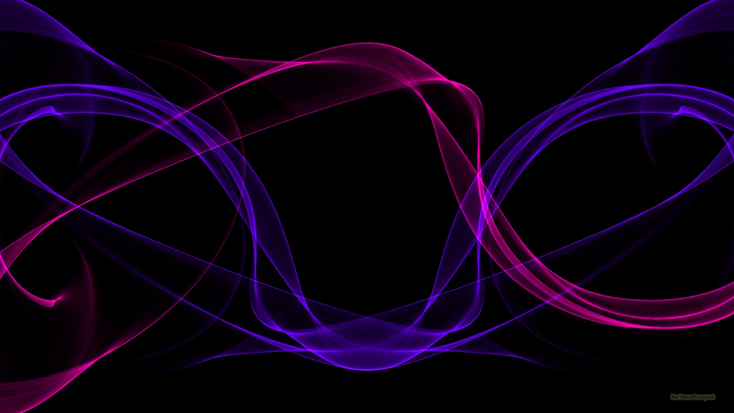 Black Abstract Wallpaper With Purple And Pink Waves