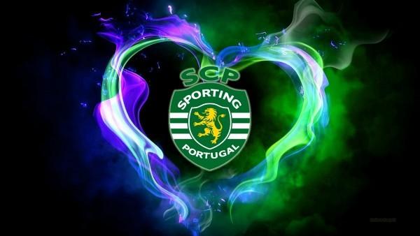Blue green SCP Sporting emblem wallpaper