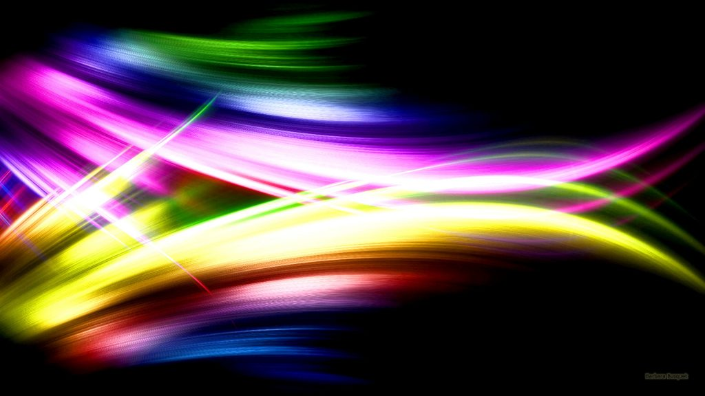 Dark abstract wallpaper with spectrum colors