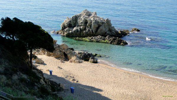 Quiet sand beach in Spain